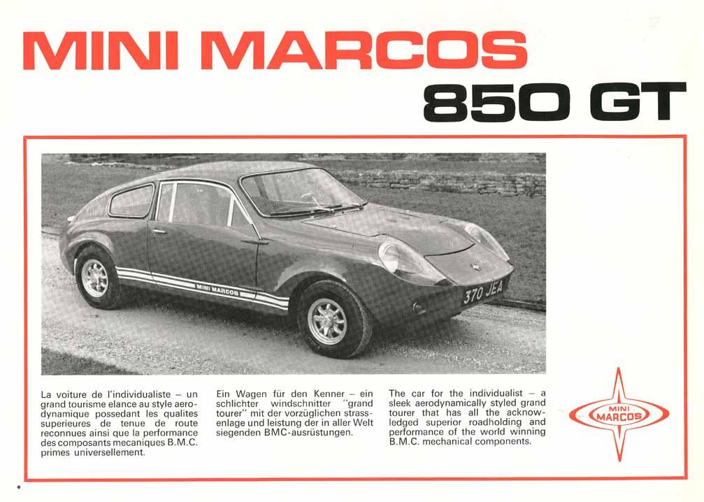 Mini Marcos 850 GT Brochure