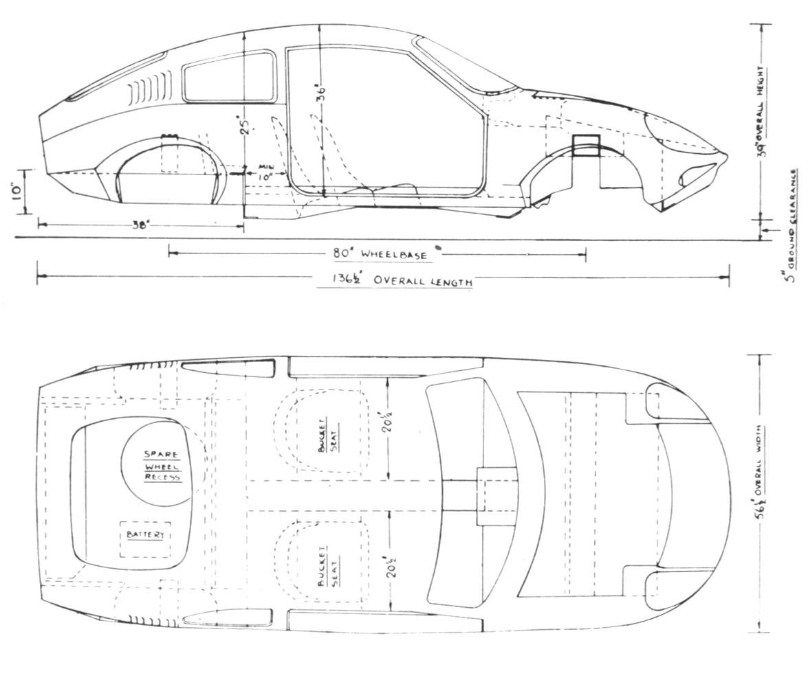 Plan And Elevation Of Car : The mini marcos details